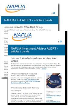 NAPLIA Email Alerts